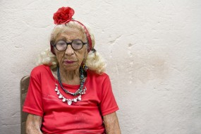 Cuba, Havana, old woman