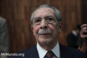 Efraín Ríos Montt at Trial. Photo by  J. Rodriguez / mimundo.org