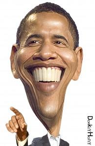 Barack Obama, by DonkeyHotey http://donkeyhotey.wordpress.com/