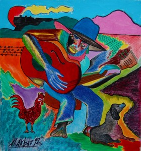 Blues Man, Painting by Ali Akbar