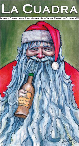 Drinky Santa by Juan Pablo Canale