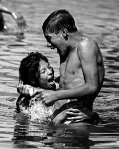 Zadik Woman and Man Bathing