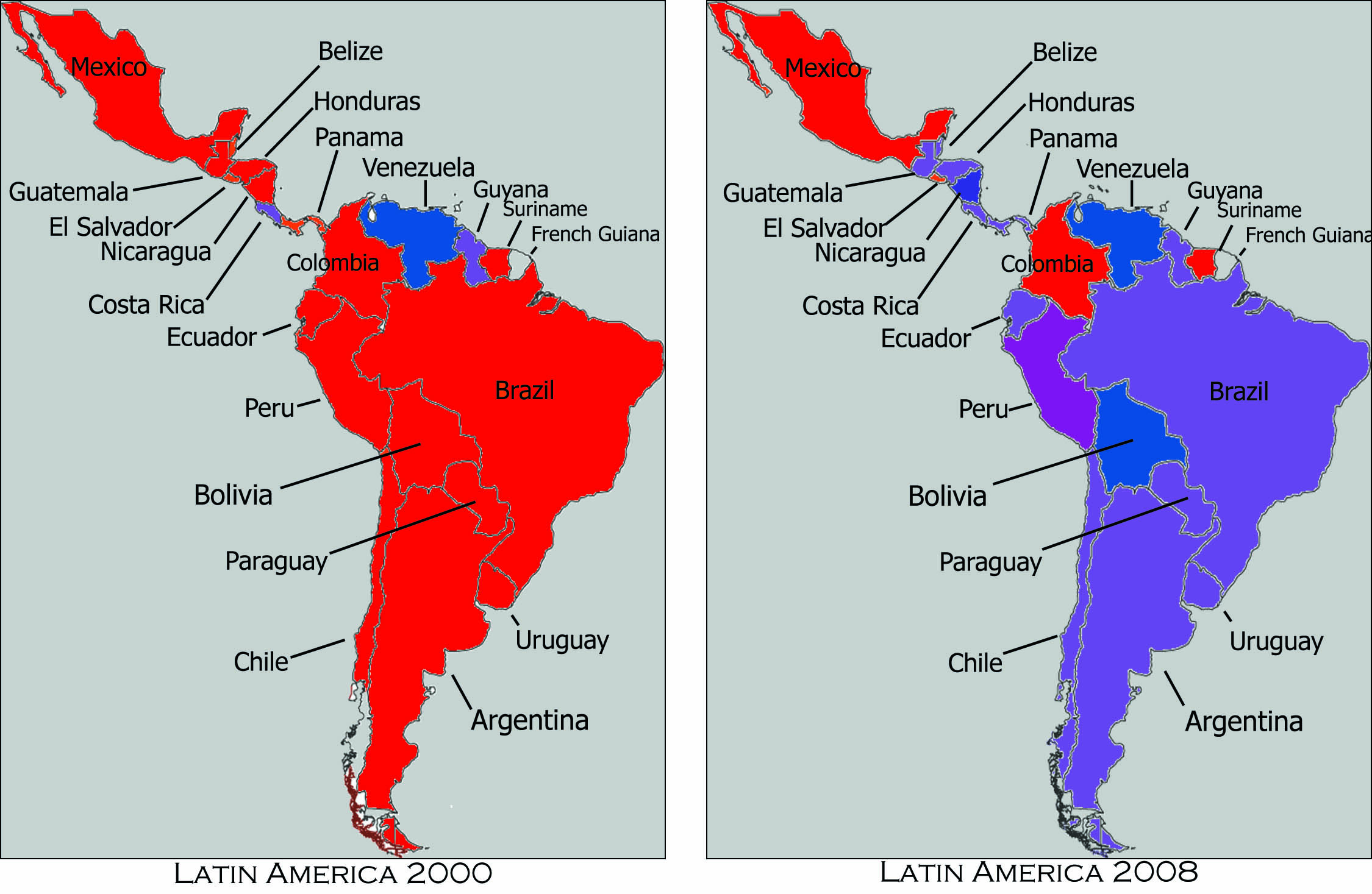 Latin America Map Labeled latin america maps labeled copy1   La Cuadra